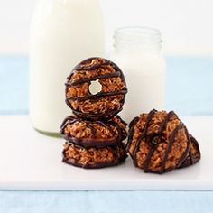 Homemade Samoas!  I may have to make these to hold me over until my GS Cookies come!