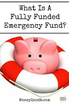 What is a fully funded emergency fund? Most financial planners, Dave Ramsey included, recommend that you have an emergency fund that has three to six months of living expenses. This is one of his core tenants in his book, The Total Money Makeover and it i Savings Planner, Financial Planner, Financial Tips, Ways To Save Money, Money Saving Tips, Money Tips, Managing Money, Saving Ideas, Total Money Makeover