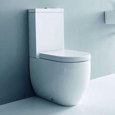 Kerasan Flo miska wc stojąca kompakt ze spłuczką 3117 + 3181 + 7509 - z kategorii- Miski i kompakty WC