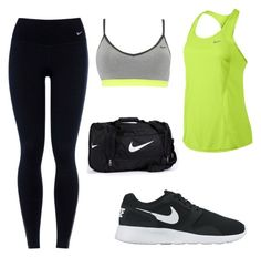 """""""Untitled #1"""" by anna-janeczek ❤ liked on Polyvore featuring NIKE, women's clothing, women, female, woman, misses and juniors"""