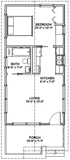 14 x 40 floor plans with loft bear lake series model 102 for 16x32 2 story house plans