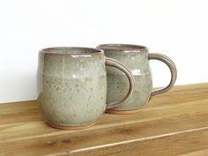 Stoneware Coffee Cups in Fog Glaze Ceramic by dorothydomingo