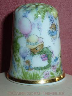 Mouse Family Thimble Raesuevic Ceramics Fine Bone China on Etsy, $5.11