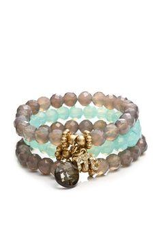 Kensico set of 3 scorpio jessie stretch bracelet