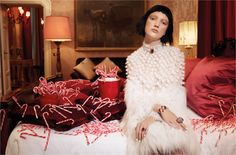 """The night before Christmas""   from Vogue.it Photo by Luciana Val & Franco…"