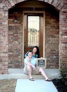 Our First Home Photo Shoot San Antonio Texas Jennie Sue Photography TheLittlestEccles The Littlest Eccles Buying First Home, First Time Home Buyers, Home Buying, First Home Pictures, Couple Pregnancy Photoshoot, Small Modern House Plans, New House Announcement, Home Photo Shoots, Moving House