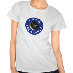 """I'm a book giver"" T-Shirt. Yeah, I just might be qualified to wear this shirt. Cool T Shirts, Tee Shirts, Tees, Beautiful Library, T Shirt World, Trendy Tops, College Life, Imagination, Badass"