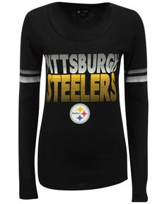 61bbde486 5th   Ocean Women s Long-Sleeve Pittsburgh Steelers Gradient T-Shirt    Reviews - Sports Fan Shop By Lids - Men - Macy s