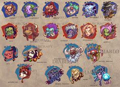 heads of WOW and D3 by breathing2004.deviantart.com on @deviantART