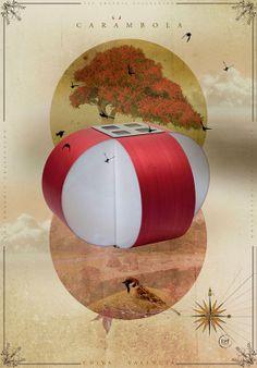 LZF Carambola-M  Illustration #WoodLighting #WoodLamps #LZF #design #red