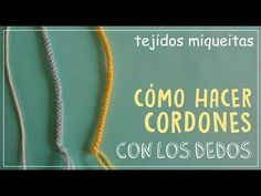 Icord o cordón tubular tejido a crochet - YouTube Crochet I Cord, Crochet Stitches, Knit Crochet, Spool Knitting, Baby Knitting, Wire Wrapping Tutorial, Friendship Bracelets With Beads, Learn How To Knit, Yarn Ball