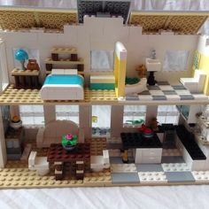 Here is the inside of my modern Lego farmhouse!