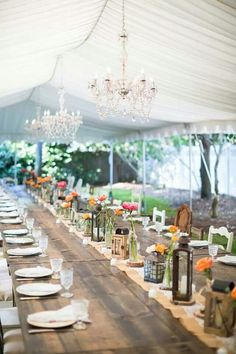 Rustic weddings are so cutie! I always love sharing ideas connected with them, and today these are rustic table settings because table decor is the second thing that comes to mind after dressing the couple. Rustic weddings are very cozy and comfy. Marquee Wedding, Tent Wedding, Chic Wedding, Wedding Rustic, Rustic Weddings, Wedding Reception, Farm Wedding, Dream Wedding, Garden Weddings