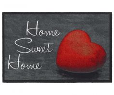 Deurmat Mondial Home Sweet Home red Sweet Home, Vinyl, Kids Rugs, Red, Home Decor, Design, Clean Apartment, Children Of The 90s, Good Mood
