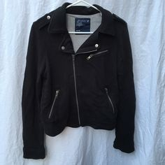 Moto Jacket Sturdy, heavy-duty moto jacket from American Eagle. It's a thick fabric and super cute! Great for layering in fall and winter. American Eagle Outfitters Jackets & Coats Blazers