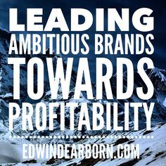 Leading ambitious brands