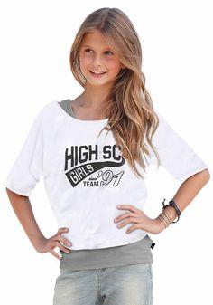 Produkttyp , Shirt & Top, |Farbe , weiß-meliert, |Materialzusammensetzung , Obermaterial: 100% Baumwolle. Obermaterial 2: 50% Baumwolle, 50% Polyester, |Pflegehinweise , Maschinenwäsche, |Auslieferung , liegend, | ...