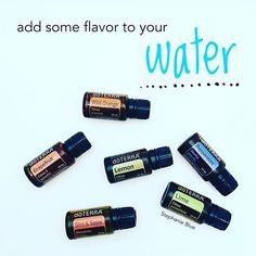 Love adding doTerra essential oils to my water.  Just a drop.  Tasty!