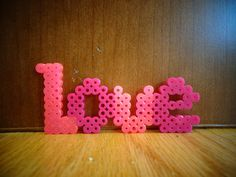 Love hama perler beads by MirandaRachelArt