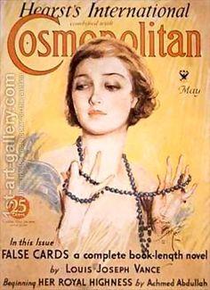 Front cover of Cosmopolitan magazine Harrison Fisher   Oil ...