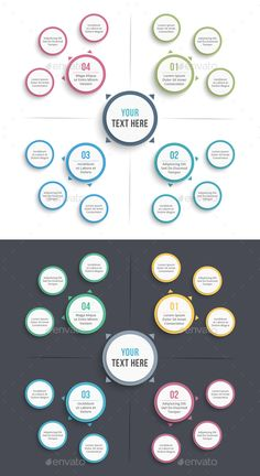 Mind Map Business Infographics Template PSD, Vector EPS, AI Illustrator