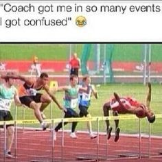 Coach got me in so many track and field events I got confused. - Funny Sports - - Coach got me in so many track and field events I got confused. The post Coach got me in so many track and field events I got confused. appeared first on Gag Dad. Dc Memes, Funny Memes, Funny Sports Memes, Funniest Memes, Funny Cute, The Funny, Super Funny, Daily Funny, Track And Field Events