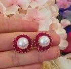 █ OSCAR HEYMAN South Sea Pearl and Ruby Earrings in 18K Yellow Gold █ HM1348 - http://karat.designerjewelrygalleria.com/oscar-heyman/%e2%96%88-oscar-heyman-south-sea-pearl-and-ruby-earrings-in-18k-yellow-gold-%e2%96%88-hm1348-2/