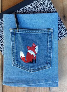 Jean Covered Journal  Animal Collection by CreativeSewingSue