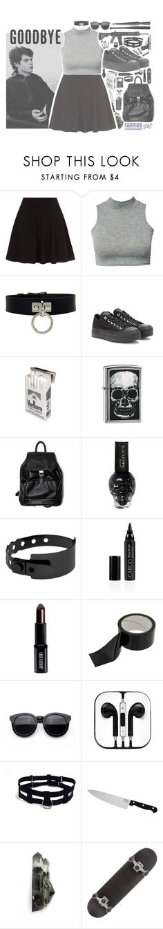 """""""goodbye"""" by crybabycry ❤ liked on Polyvore featuring Converse, Zippo, Cast of Vices, CARGO, Lord & Berry, Chicago Cutlery, GAS Jeans, women's clothing, women's fashion and women"""