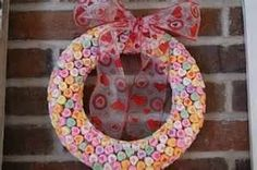 valentine's day candy wreath - A Bird and a Bean