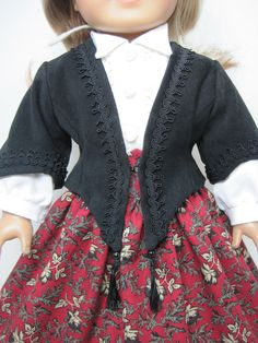 Mid 1800 century Jacket Skirt Blouse that by JasmineDollFashions. $56.99, via Etsy.