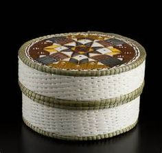 Quill Basket (Geometric design) by Lorraine Besito, Ojibwa (Saugeen ...