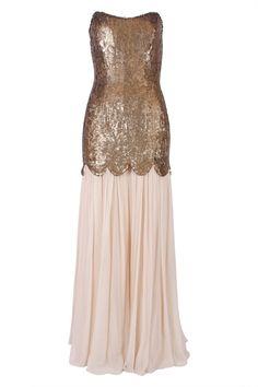sequin gown / rachel gilbert