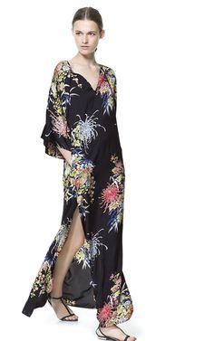 LONG PRINTED DRESS - Maxi - Dresses - Woman | ZARA United States