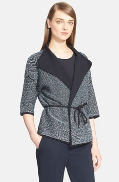 Max+Mara+'Girone'+Bouclé+Knit+Wrap+Cardigan+available+at+#Nordstrom