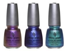 China Glaze Bohemian Luster Chrome - No Plain Jane, Want My Bawdy, Deviantly Daring