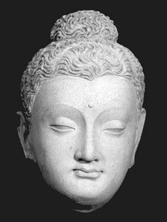 Spread of Buddhism- Serindian Buddha Head Statue found in Gandhara district (today Pakistan)