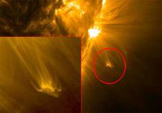 Descubren un gigantesco OVNI saliendo del Sol