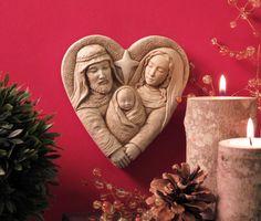 1302 Heart of Christmas #carruth #nativity #christmas #plaque #garden #decor #handcast #usa