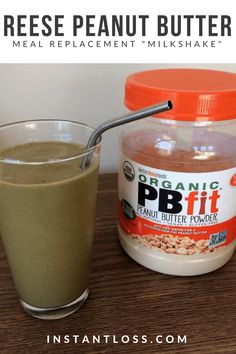 Reese Peanut Butter Meal Replacement Milkshake instantloss.com