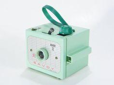 Vintage Mint Green Camera via Etsy