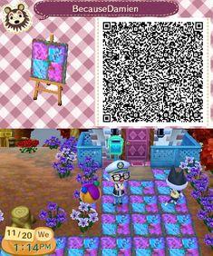 pink blue tile qr code