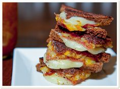 Blue Moon Brewing Company - Miniature Grilled Cheese Sandwich with Orange Marmalade