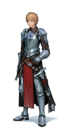 Human Young Paladin Knight - Pathfinder PFRPG DND D&D d20 fantasy