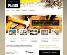 Projektina: Kotisivut yhdessä päivässä workshopissa.  http://www.rakennuspalvelupasuri.fi/