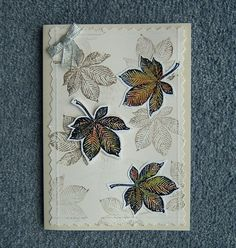 Autumn leaves greetings card (ref 738) £1.50