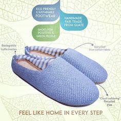 Eco Bambas tøfler er Eco-Friendly, trendy og komfortabel, laget av resirkulerte materialer, økologisk bomull og biologisk nedbrytbare såler. Upcycle, Recycling, Cotton Fabric, Slippers, Footwear, Handmade, Shoes, Fashion, Moda