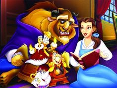 1024×768 HD Disney Beauty and the Beast Cartoons Wallpapers
