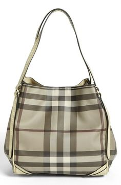 Burberry 'Canterbury - Small' Shoulder Tote available at #Nordstrom Love this bag!!  Just need to win the lottery!!  ha ha