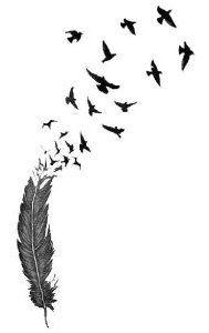 feather tattoo birds